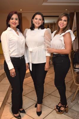 Waleska López, Lidia Padilla y Jenny Bobadilla