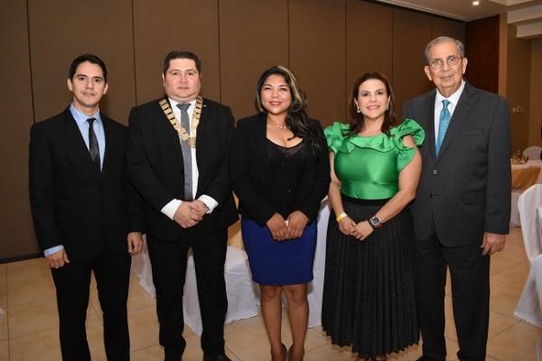 Walter Hernández, Mario Padilla, Delcy Maradiaga, Vanessa Reyes y Francisco Saybe