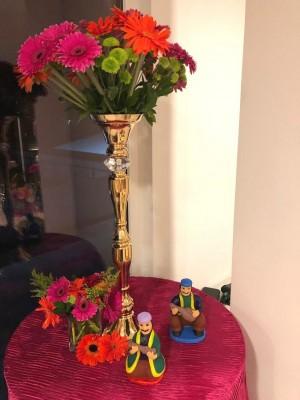 La selección de cada elemento decorativo fue obra de la madre de la novia, doña Vilma Chávez de García