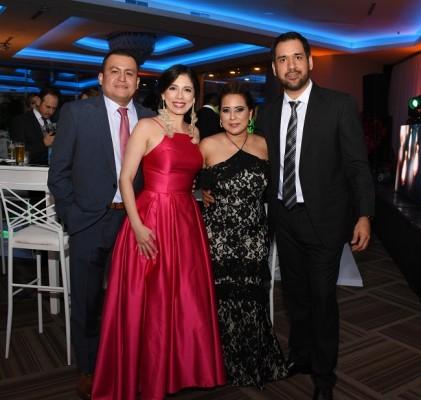 Adonis y Alejandra Fuentes, Georgina Romero y Eduardo Palao