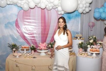 Un paseo por las nubes en el baby shower de Alejandra