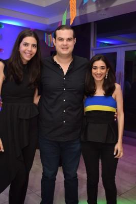 Andrea de Monterroso, Gustavo Hilsaca y Amira Jarufe