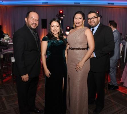 Carl Estévez, Gisela Dubón, Daniela de Osorio y Alfredo Osorio