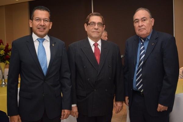 Cesar García, José Edgardo Valerio y Horacio Caldera.