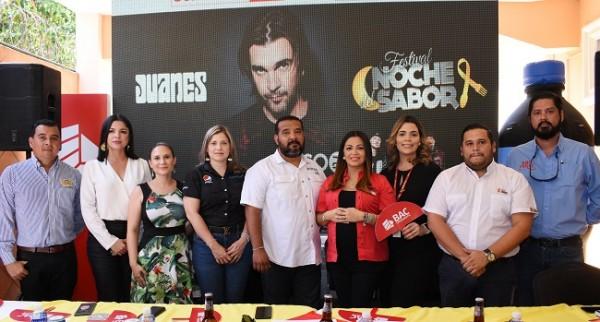 Mesa principal en la conferencia de prensa del Festival Noche del Sabor 2020