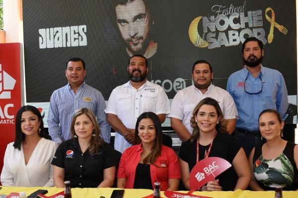 Conferencia de prensa del Festival Noche del sabor en su lanzamiento oficial.