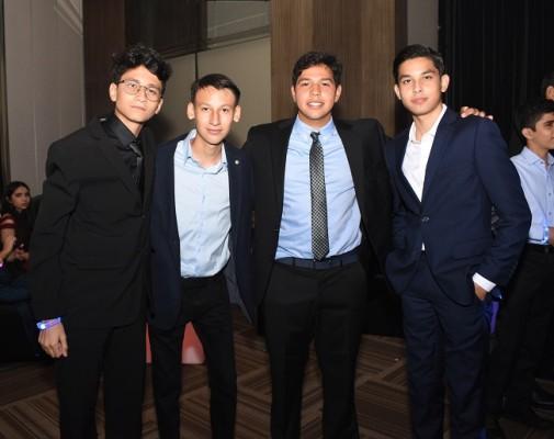 Daniel Orellana, Orinso Amaya, Juan Torres y Joseph Espinoza