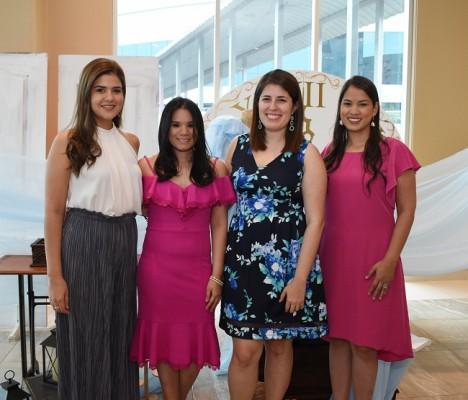 Daniela Sanabria, Daniela Alvarado, Diana Enamorado y Ana Sánchez