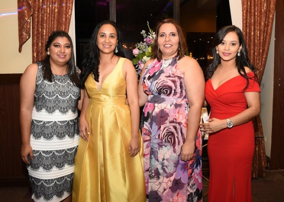 Denisse Gutiérrez, Dania Castellón, Flor Castro y Aura Barralaga