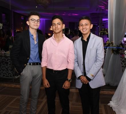 Diego Euceda, Elvin Zelaya y Juan Carlos Rivas