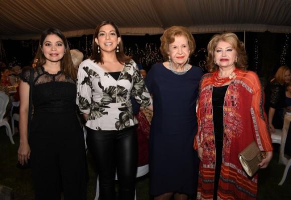 Ingrid Sabillón, Sarahí Carranza, Julieta Kattán y Maritza Lara