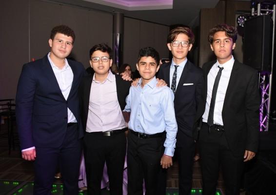 José Antonio Valladares, Sebastian Zavala, Ángel Dubón, Santiago Amaya y Daniel Fernández