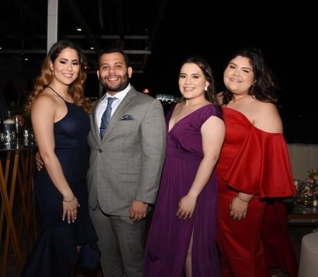 Karol Chahín, Beker Turcios, Nicolle Fuentes y Gina Munguía.