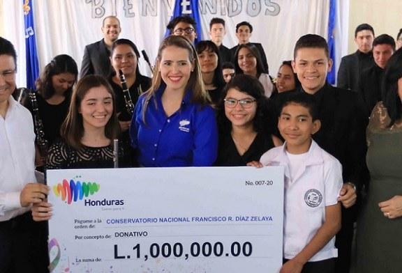 Marca Honduras dona un millón de lempiras al Conservatorio Nacional de Música