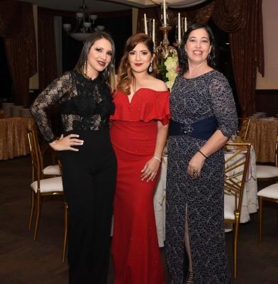 Mariela Ramos, Dayana Bueso y Liseth Madrid