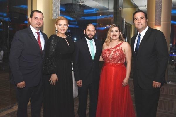 René Pérez, Ela Cueva, Alberto Ramírez, Alina Ponce y César Milian