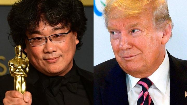"""Trump critica los premios Óscar, por entregar el galardón de mejor película a la cinta coreana """"Parasite"""""""