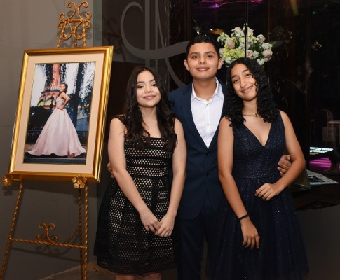 Valeria Carranza, Isaac Castillo y Nathalie Munguia