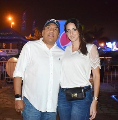 Onías y Andrea de Peralta en la cuarta edición del Festival Noche del Sabor