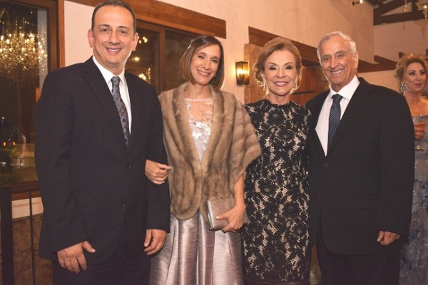 Allan, Suzette, Gloria y Michel Hawit.