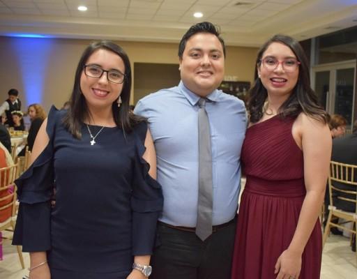 Xinia Rivera, Carlos Dubón y Diana Bonilla