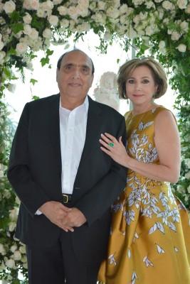 Farid Handal y Nancy de Handal, abuelos paternos de Ivanna María.