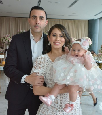 Farid y Monica con su bella hija Ivanna María