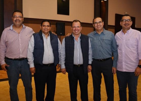 Juan Carlos Meraz, Rubén Solano, Reynaldo Ekonomo, Denis Gallardo y Juan Esteban Suazo
