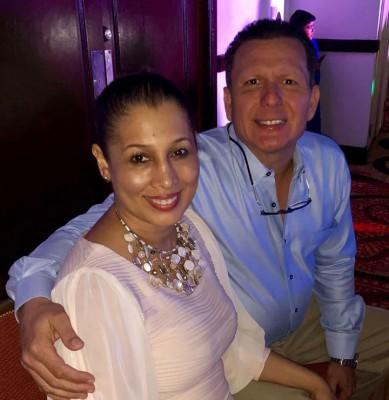Gabriela Garcia con su esposo Alejandro Ferraro