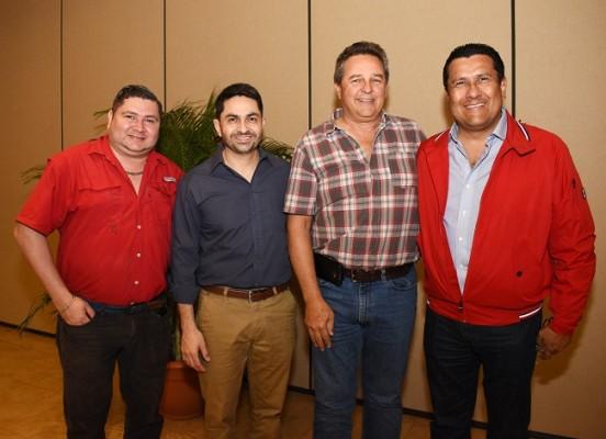 Mario Padilla, Jerson Reyes, Harry Panting y Ángel Eduardo Ramos