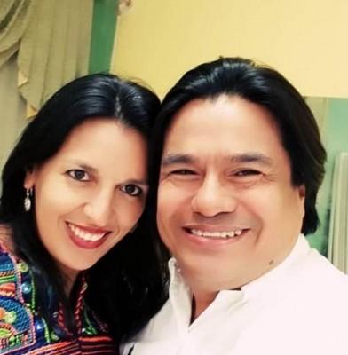Marlon Ivan Rodriguez con Kenya Jeanette Perello Paranky.
