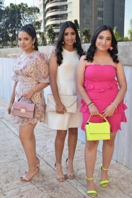 Sarah Reyes, Fadia Kury y Luisa Villatoro.