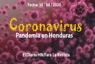 El coronavirus cobra otras cuatro vidas en Honduras y los casos positivos suman 804
