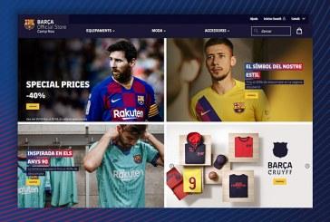 El FC Barcelona estrena tienda 'online' y da un paso más en la estrategia comercial del club