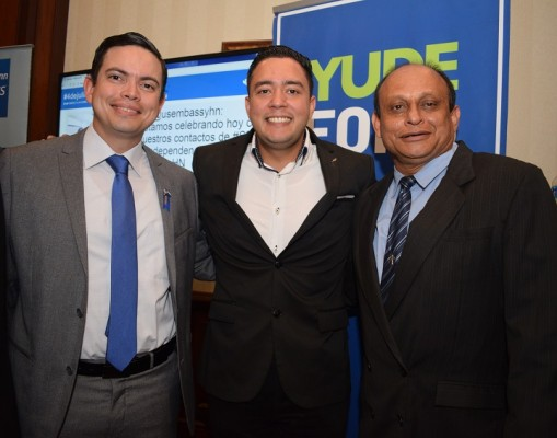 Ivan Aguilar, Nilrod Rodriguez y Omar Cererlla