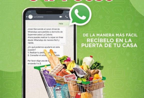 La Colonia lanza su canal oficial de WhatsApp para que su clientela realice sus pedidos a domicilio