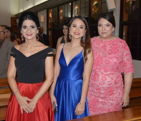 Sandra Faraj, Olga Maradiaga y Gina de Dacaret