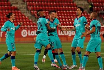 Barcelona regresa con triunfo 0-4 en su visita a Mallorca y le permite seguir de líder