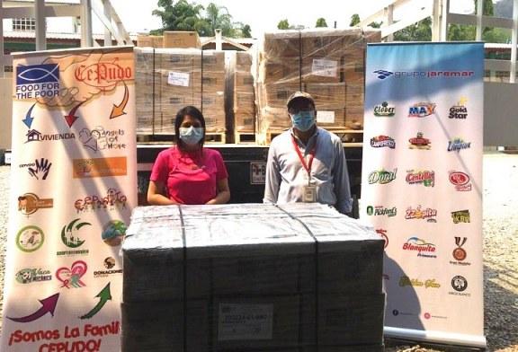 Grupo Jaremar beneficia mas de 4 mil familias en riesgo social de Villanueva con la donación de granos básicos
