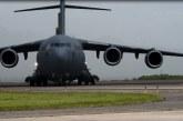 Llega a Palmerola avión de la Fuerza Aérea de EEUU con 44.180 libras de ayuda humanitaria