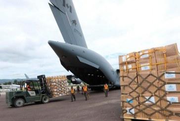 Llega avión de la Fuerza Aérea canadiense con 10 toneladas de equipo de bioseguridad