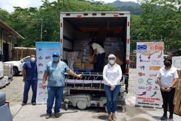 Grupo Jaremar distribuye un contenedor de insumos médicos en 4 centros hospitalarios del país