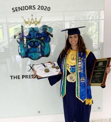 Katherine Fajardo, fue la presidenta de la clase 2020 de la EIS.