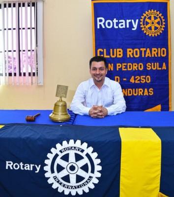 Alex Erazo, el presidente electo del Club Rotario San Pedro Sula