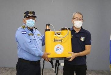 JICA entrega material de bioseguridad a la Policía Nacional