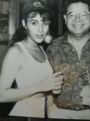 Henry García con Carolina Rivera López