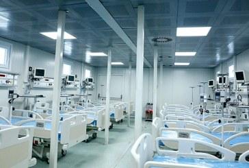 Hospital móvil de San Pedro Sula ya está instalado en un 98 %