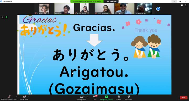 Voluntario de JICA imparte clase virtual de japonés a niños hondureños