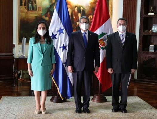 Diez nuevos embajadores presentan cartas credenciales al presidente Hernández