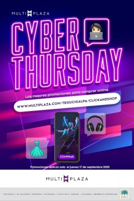 """Cyber Thursday"": un día cmpleto de compras en línea a precios exclusivos en Multiplaza Click & Shop"